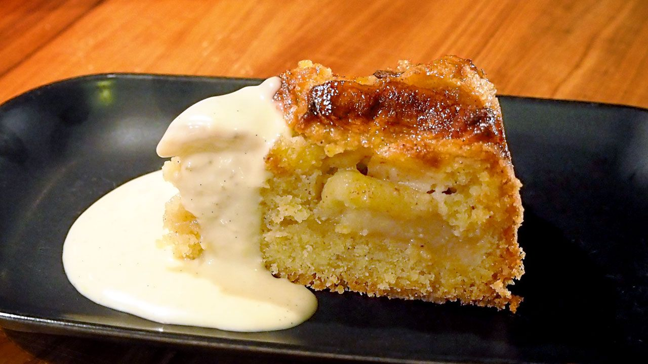 Really fat apple cake for obese people